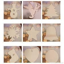 Lumanuby 10x Laser Geschnitten Weihnachtsbaum Anhänger Holz