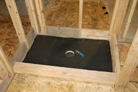 shower pan building paper