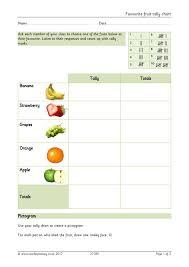 Favourite Fruit Tally Chart