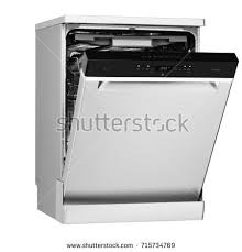 dishwasher clipart black and white. dishwasher machine isolated on white background. side view of modern freestanding stainless steel range clipart black and