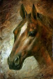 horse painting horse head by arthur braginsky