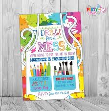 Paint Party Invitations Painting Party Invitations Kids Etsy