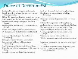 dulce et decorum est by wilfred owen ppt video online 3 dulce et decorum est