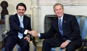 Resultado de imagen de Aznar y Bush