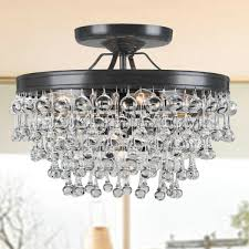 crystal flush mount crystal flush mount lighting flush mount for contemporary household semi flush mount crystal chandelier ideas