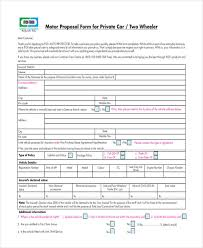 private motor proposal form