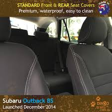 custom fit waterproof neoprene subaru outback bs front rear seat covers