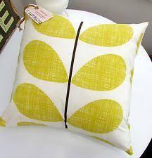 living room orla kiely multi: cushion cover orla kiely multi stem scribble stem quilt ochre lemon yellow geo