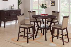 lighting surprising round counter height dining set 18 high table and chairs room pub black round