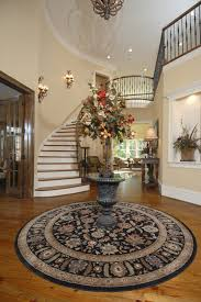 cool round foyer table decorating ideas