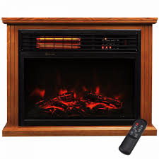 28 electric fireplace 1500w 3d flame embedded insert heater cabinet oak home home garden