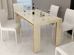 interesting decoration colored dining table glass top cream color beige gloss dining room dining sets dining