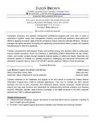 Resume For Logistics Sales Logistics Lewesmr
