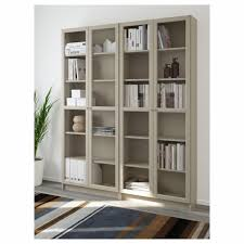 billy oxberg bookcase white glass 160x202x28 cm ikea within white bookshelf with glass