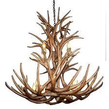 canadian antler design reion mule deer 12 light natural brown antler chandelier