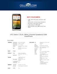 HTC Desire U DUAL white cellphone ...