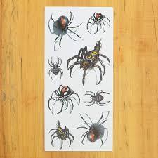 Cokohappy Temporary Tattoo 3d Black Widow Spider Amazoncouk Beauty