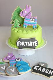 Fortnite Birthday Cake Cookies Glorious Treats