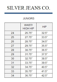 Silver Jeans Size Chart Silver Jeans Juniors Size Chart The Best Style Jeans