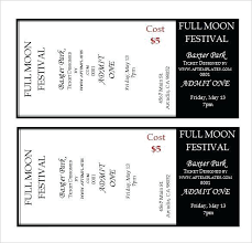 Admission Ticket Template Free Download Admission Ticket Template Free Download 365432585165 Fundraiser