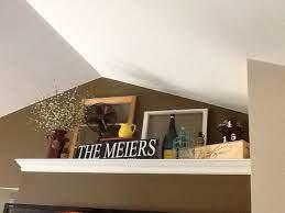 ledge decor high shelf decorating