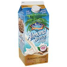 blue diamond almond breeze unsweetened almond milk coconut milk blend 0 5 gal walmart