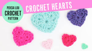Crochet Heart Pattern Free Enchanting How To Crochet Hearts Free Crochet Heart Pattern YouTube
