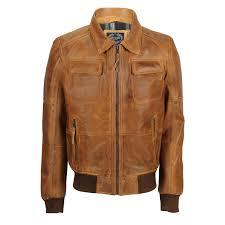 mens real leather vintage er pilot jacket fur