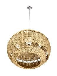 quick view open weave wicker ball pendant lamp natural