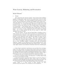 water scarcity marketing and privatization pdf available