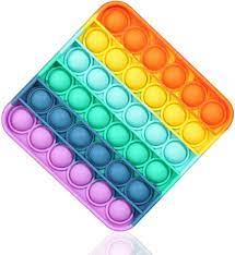 2.9 out of 5 stars. Amazon Com Pop Fidget Toy Rainbow Square Push Bubble Sensory Fidget Toys Anxiety Stress Relief Autism Learning Materials Squeeze Toy For Kids Teens Office Older 1 Pack Rainbow Square Health Personal Care