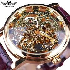 mens transparent watches reviews online shopping mens winner royal carving skeleton brown leather strap transparent thin case skeleton design watch watches men luxury brand clock men
