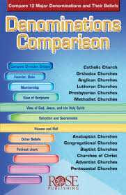 Denominations Comparison Compare 12 Major Denominations And Their Beliefs
