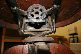 vintage antique oak desk chair lawyer office sheybogan crocker co antique oak office chair