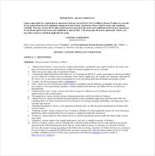 17 License Agreement Templates Free Sample Example Format