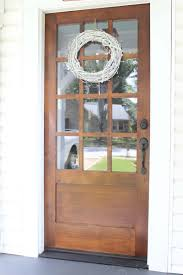 Our New Front Door Dark Stained Wood With White - Exterior door stain