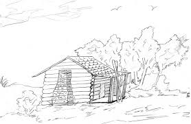 logging coloring pages log cabin coloring pages