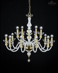 114 ch 10 5 gold leaf white crystal chandelier reina chandeliers