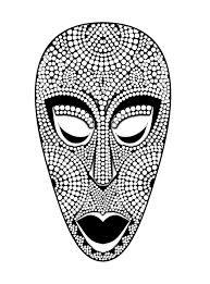 Masque Africain Coloriage De Masques Coloriages Pour Enfants