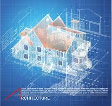 Urban Blueprint vector Architectural background Part of