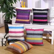 colorful striped polyester cushion cover home office sofa square car pillow case decorative cushion covers pillowcases