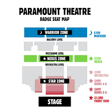 47 Competent Stateside At The Paramount Seating Chart