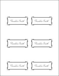 Free Avery Templates Place Cards 6 Per Sheet Wedding In 2019