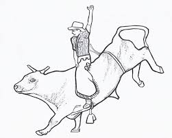 Bull Riding Coloring Pages 02