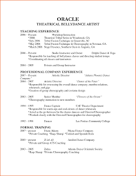 How To Make A Dance Resume Dance Resumes Template How To Create A Dance Resume Resume