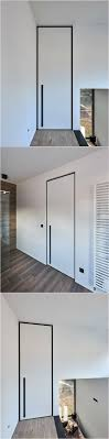 modern interior door handles. White Interior Door From Floor To Ceiling With A Black Anodized \ Modern Handles