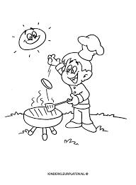 Kleurplaat Bbq Barbecueën Tuinkok Beroepen