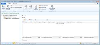 Form For Budgeting Independent Sub Project Budgeting In Ax 2012 R3 Direct