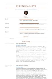 Front Office Manager Resume Samples Visualcv Database Sample