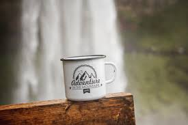 Travel Mug Design Ideas White Enamel Mug Adventure Cup Enamel Coffee Mug